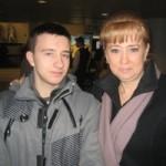 Rafal z mamą